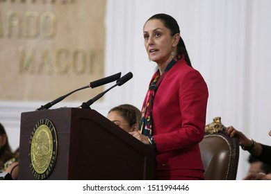 Mexico City, Mexico Septembr 17th 2019. Claudia Sheinbaum Pardo, Mexico City Mayor presents her first report to the city congress.