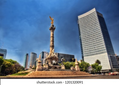 Mexico City Skyscrapter taken in January 2015