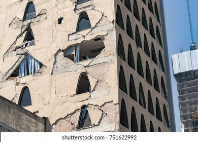 Mexico City works on damaged building after 2017 earthquake