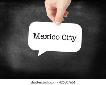 Mexico City written on a speechbubble