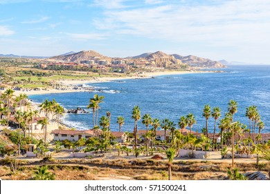 Mexico coastline with beautiful view over ocean in San Jose del Cabo.