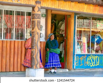 Mexico, Creel-20 October, 2016: Historic city center streets and churches during a peak tourist season