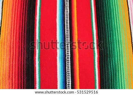 Mexico Fabric Poncho Serape Mexican Textile Traditional Rug Fiesta Background With Stripes Copy Space Pattern