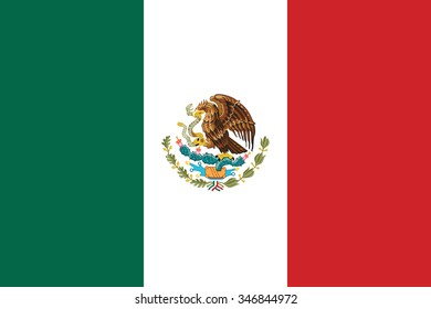 Mexico flag background illustration of country