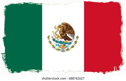 Mexico flag grunge background. Background for design in country flag