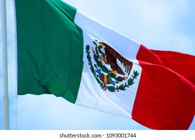 Mexico Flag over sky
