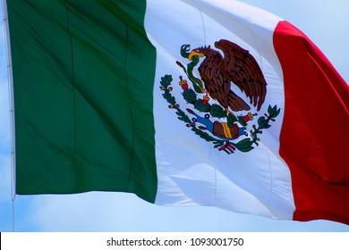 Mexico, flag and sky