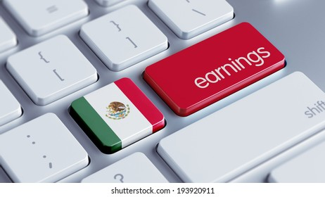 Mexico  High Resolution Earnings Concept