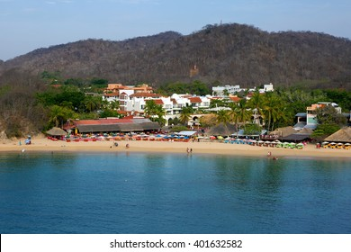 Mexico. Huatulco Bay Huatulco is the picturesque Paradise with amazing mountains, slopes, valleys and abundant vegetation, beautiful beaches.