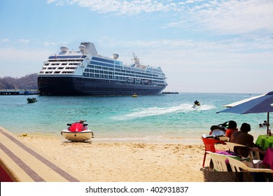 Mexico. Huatulco. Bay Huatulco is a picturesque Paradise with amazing mountains, slopes, valleys and abundant vegetation, beautiful beaches.