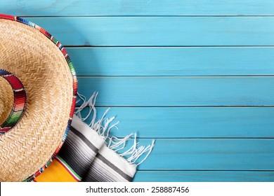 Mexico : Mexican background, sombrero