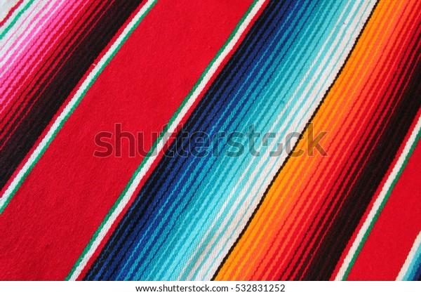 Mexico Mexican Poncho Serape Textile Fabric Stock Photo