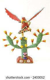 Mexico National Symbol Wood Carving