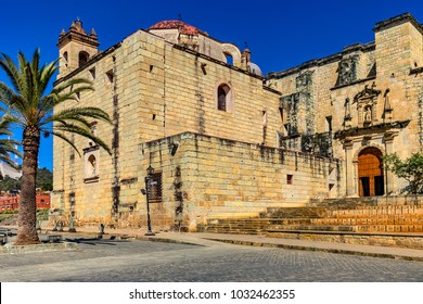 Mexico. Oaxaca de Juarez. Facade of Church of Santo Domingo de Guzman. Historic Centre of the city is on UNESCO World Heritage Site