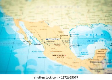 Mexico on the map