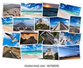 Mexico photos collage