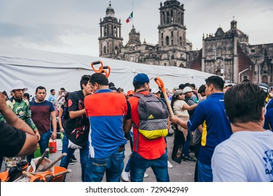 MEXICO - SEPTEMBER 20: People volunteering at a collection center to gather provisions and supplies for the earthquake victims, September 20, 2017 in Mexico City, Mexico