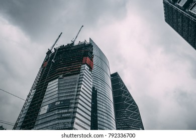 MEXICO - SEPTEMBER 29: Top of a skyscrapper on a cloudy day, September 29, 2017 in Mexico City, Mexico