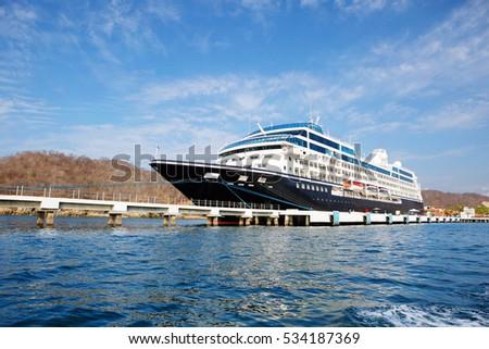 Mexico Ship Pier Cruise Ship Berth Stock Photo Edit Now 534187369
