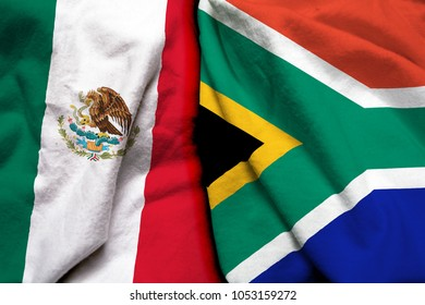 Mexico and South Africa flag together