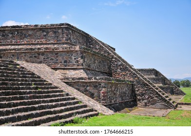 Mexico Teotihuacan ruins stairs landscape