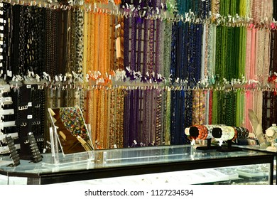Mexico;  United Mexican State - may 13 2018 : necklace in a shop in the borough of Coyoacan