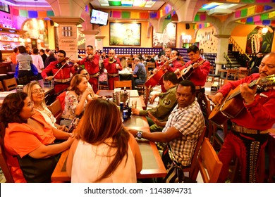 Mexico;  United Mexican States - may 13 2018 : restaurant at the Garibaldi square