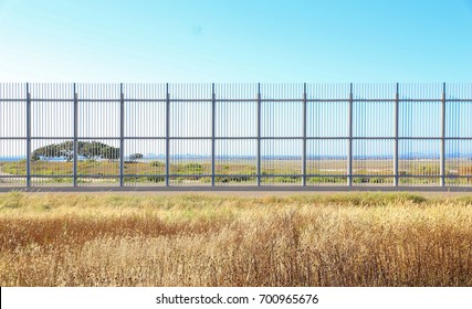 Mexico - United States Border Wall View from Tijuana