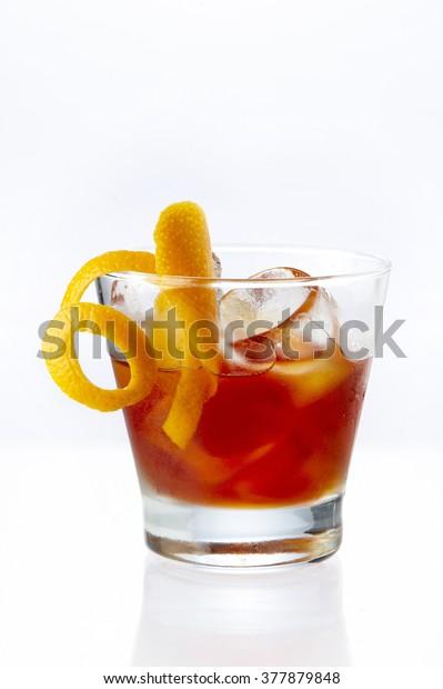 Meximilan Affair Cocktail Garnish Orange Zest Stock Photo ...