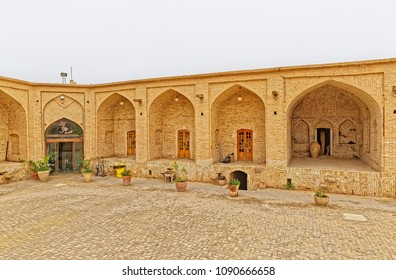 MEYBOD, IRAN - MAY 6, 2015: Old caravanserai turned into a museum and a shopping gallery.