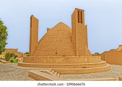 MEYBOD, IRAN - MAY 6, 2015: Cooler building by the Narin castle is an example of traditional architecture that is at least 1800 years old.