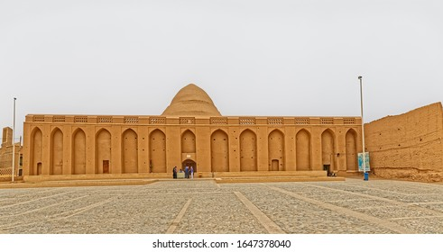 MEYBOD, IRAN - MAY 6, 2015: Exterior of the ancient Yakhchal ice house in Yazd province.