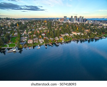 Meydenbauer Bay, Bellevue, Lake Washington, USA