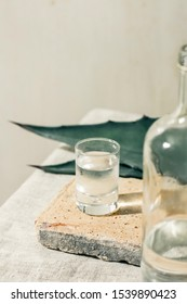 Mezcal or Mescal is a Mexican distilled alcoholic beverage made from any type of oven-cooked agave.