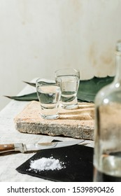 Mezcal is a Mexican distilled alcoholic beverage made from any type of oven-cooked agave.