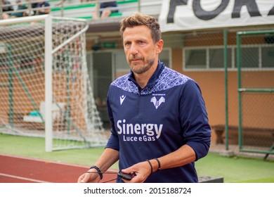 MEZZANO (TN), ITALY - 17 JULY 2021: Eusebio Di Francesco head coach of Hellas Verona during the friendly match between Hellas Verona FC  and Top 22 Calcio Veronese at Centro Sportivo Intercomunale.