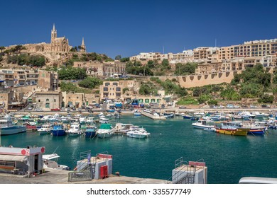 Mgarr Harbour on Gozo island in Malta