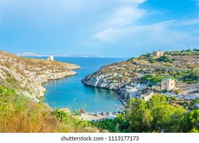 Mgarr ix-Xini bay on Gozo, Malta