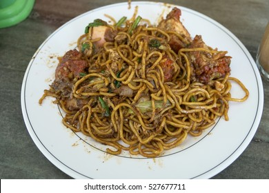 Mi goreng or mee goreng mamak, Indonesian and Malaysian cuisine, spicy fried noodles
