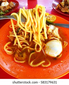 Mi rebus or Mee rebus is a noodle dish popular in Indonesia, Malaysia, and Singapore. It is also often called mi kuah.