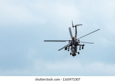 "Mi-28 UB attack helicopter performing demonstration flight. Mil 28 (NATO reporting name ""Havoc"")  19.07.2017, Rostov Region, Russia"