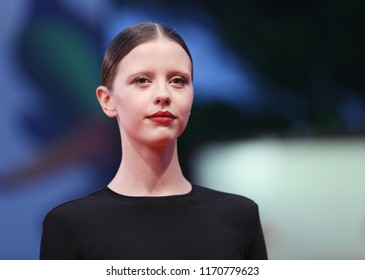Mia Goth walks the red carpet ahead of the 'Suspiria' screening during the 75th Venice Film Festival at Sala Grande on September 1, 2018 in Venice, Italy.