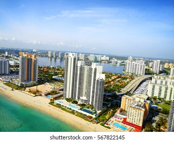 Miami Beach aerial view, Florida, USA