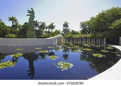 MIAMI BEACH - AUGUST 21: Miami Beach Holocaust Memorial located 1945 Meridian Ave August 21, 2016 in Miami Beach FL, USA