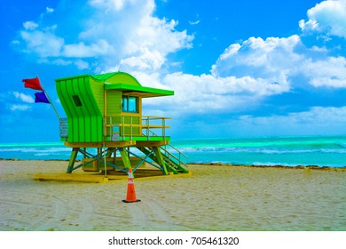 Miami Beach Colorful Lifeguard Tower