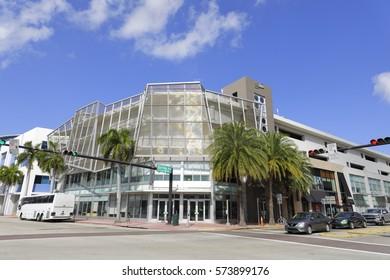 MIAMI BEACH - FEBRUARY 6, 2017: Stock photo of Miami Beach Art Deco District