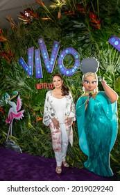 Miami Beach, FL - July 31st, 2021: Gloria Estefan arrives at the premiere of Netflix's Vivo.