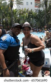 MIAMI BEACH, FL - MAY 14, 2016: AQUA GIRL 2016 Aqualicious Pool Party, The Raleigh Hotel on Miami Beach