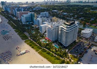 MIAMI BEACH, FL, USA - MARCH 6, 2020: Faena Hotel and condominium residences Miami Beach FL