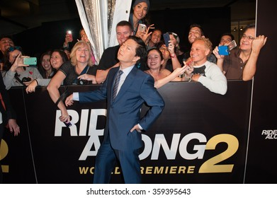 Miami Beach, Florida - January 6, 2016:  Ken Jeong attends the World Premiere Of Ride Along 2 in Miami Beach, Florida